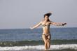 Femme a la plage