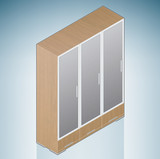 Furniture: Bedroom Cupboard with Glass Doors poster