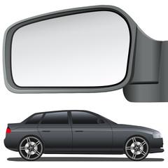 Autospiegel und Auto