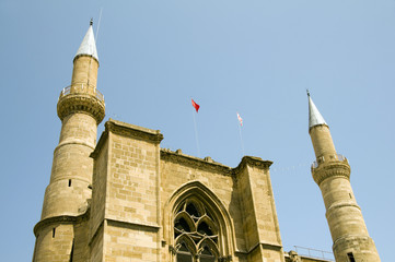 cathedral mosque and minarets lefkosia cyprus