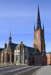 The Riddarholmen church in Stockholm, Sweden.