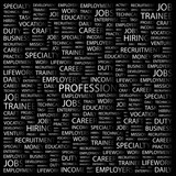 PROFESSION. Word collage with different association terms. poster