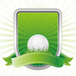 golf,shield,green background
