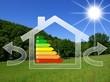 Maison bioclimatique au soleil