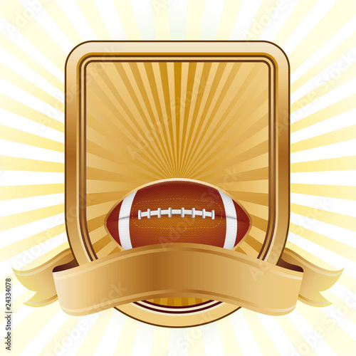 american football,shield,yellow background