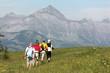 quatre randonneurs en montagne