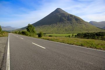 road through mountains glen coe