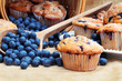 Leinwanddruck Bild - Blueberry Muffins