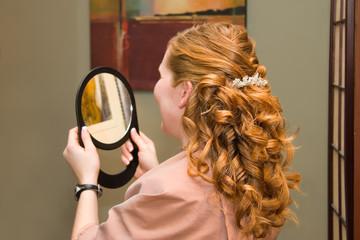 Elegant Hairstyle, Pleased Customer