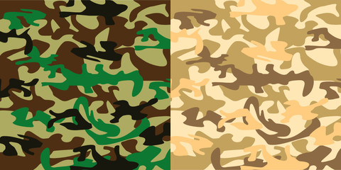 Military camouflage cloth
