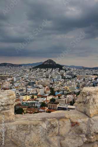 Lycabettus Hill viewed from the Acropolis