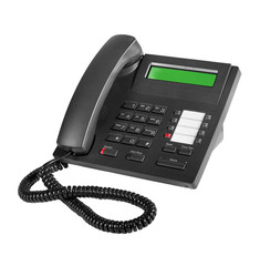 Business phone on the white background with Clipping Path.