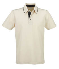 Blank of Beige T-Shirts Front with Clipping Path.