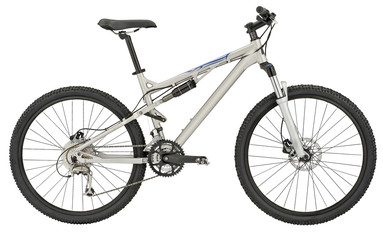 Sport silver bicycle with Clipping Path!