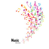 Fototapety Colorful music background
