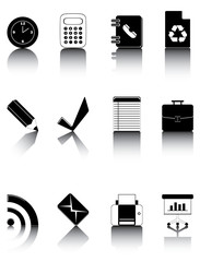Black icons set 3