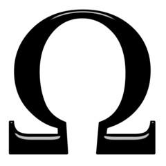 3D Greek Letter Omega
