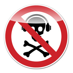 Señal prohibido musica pirata