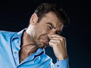 Man Portrait Unplesant Smell