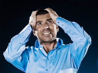 Man Portrait Headache
