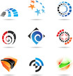 Various colorful abstract icons, Set 19