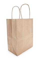 Brown paper shopping bag