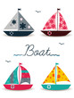 cartoon boats