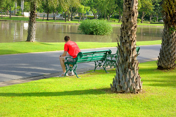a rest in the park