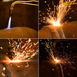 Gas torch. Metal cutting
