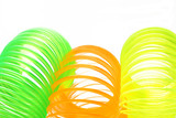 Plastic colorful springs