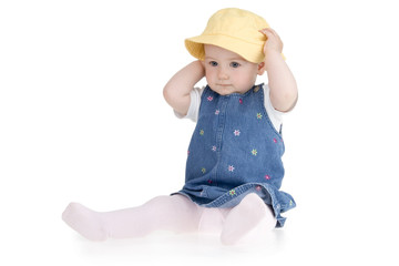 Infant yellow hat
