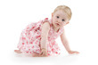 Infant in flowered dress