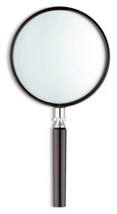 magnifying glass on a white background
