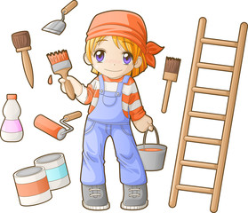 Chibi professions sets: Painter