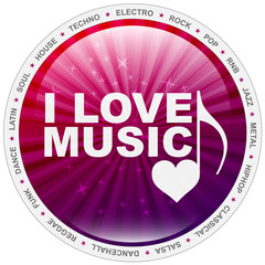Button - i love music