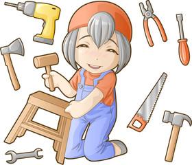 Chibi professions sets: Repairer