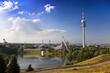 Leinwanddruck Bild - Fernsehtum von München im Olympiapark