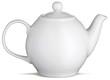 white china tea pot teapot on a white background - 24363878