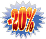 20% discount label