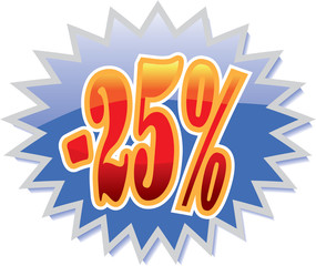 25% discount label
