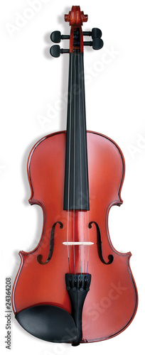 violin musical instrument on a white background