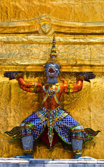 Guardian statue, yak at Grand Palace Thailand