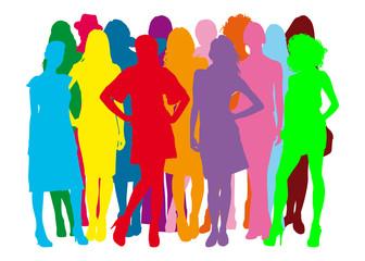 Gruppo di ragazze