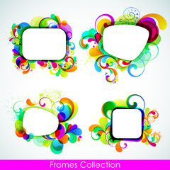 EPS10. Editable collection of cheerful frames