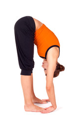 Woman Practicing Gorilla Pose Yoga Exercise