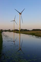Two modern windturbines