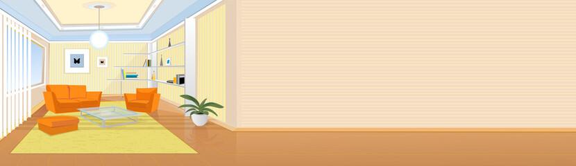 Iterior design of a living room