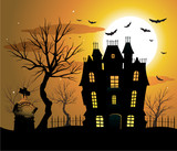 Halloween poster background