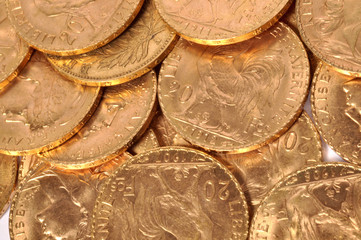 trésor en pièces d'or