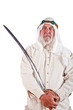 Arab Man Posing with a Sword
